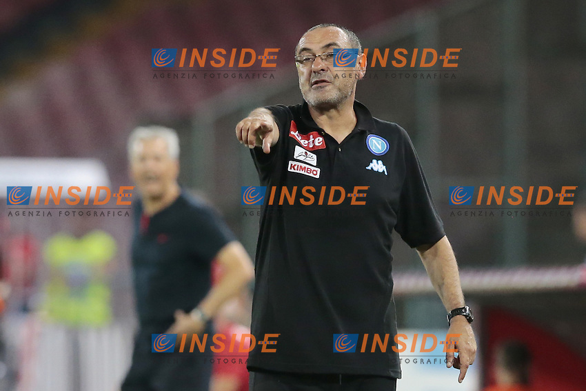 Maurizio Sarri Napoli,  <br /> Napoli 01-08-2016 Stadio San Paolo <br /> Amichevole per i 90 anni del Napoli e occasione per la presentazione della squadra stagione 2016-2017<br /> Friendly for the 90th anniversary of Naples and the occasion for the presentation of the team from 2016 to 2017 season<br /> Football Calcio friendly Amichevole partita precampionato 2016/2017 Napoli - Nizza<br /> Photo Cesare Purini / Insidefoto