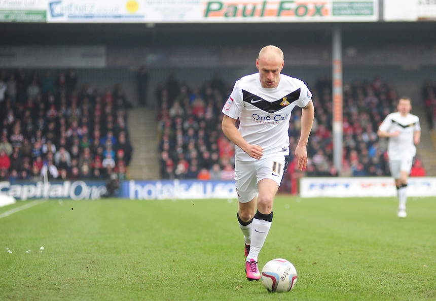 Doncaster Rovers's David Cotterill ..Football - npower Football League Division One - Scunthorpe United v Doncaster Rovers - Saturday 23rd March 2013 - Glanford Park - Scunthorpe..© CameraSport - 43 Linden Ave. Countesthorpe. Leicester. England. LE8 5PG - Tel: +44 (0) 116 277 4147 - admin@camerasport.com - www.camerasport.com