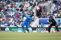 Ravindra Jadeja (India) takes the aerial route over long off during India vs New Zealand, ICC World Cup Warm-Up Match Cricket at the Kia Oval on 25th May 2019