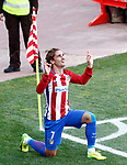 Atletico de Madrid's Antoine Griezmann celebrates goal during La Liga match. March 19,2017. (ALTERPHOTOS/Acero)