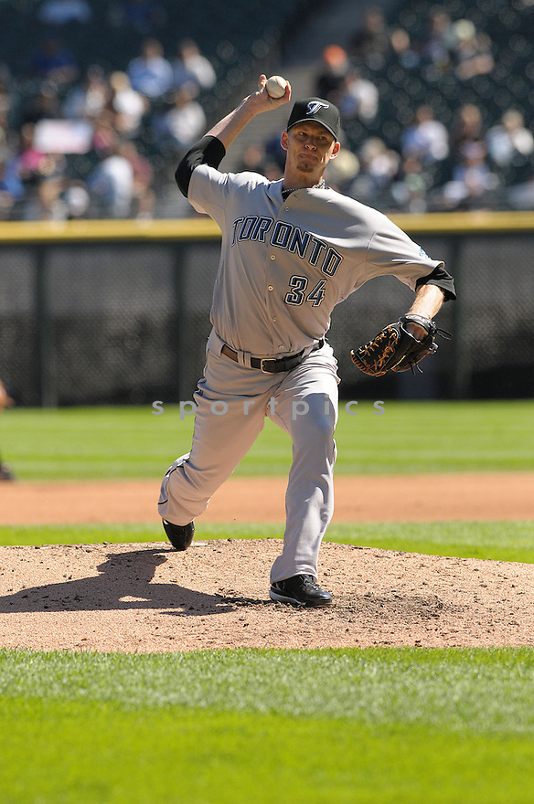 AJ BURNETT, of the Toronto Blue Jays , in action during the Mariners game against the Chicago White Sox, in Chicago, IL  on September 9, 2008..The Toronto Blue Jays  won 3-1