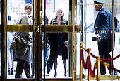 Kellyanne Conway (C), a Republican political strategist working with the transition team of President-elect Donald Trump, arrives at Trump Tower in New York, New York, USA, 08 December 2016.<br /> Credit: Justin Lane / Pool via CNP