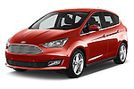 2015 Ford C Max Titanium 5 Door Mini Mpv Angular Front stock photos of front three quarter view