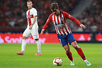 Atletico de Madrid vs Huesca Spanish league football match at Wanda Metropolitano in Madrid on September 25, 2018.<br /> Antoine Griezmann