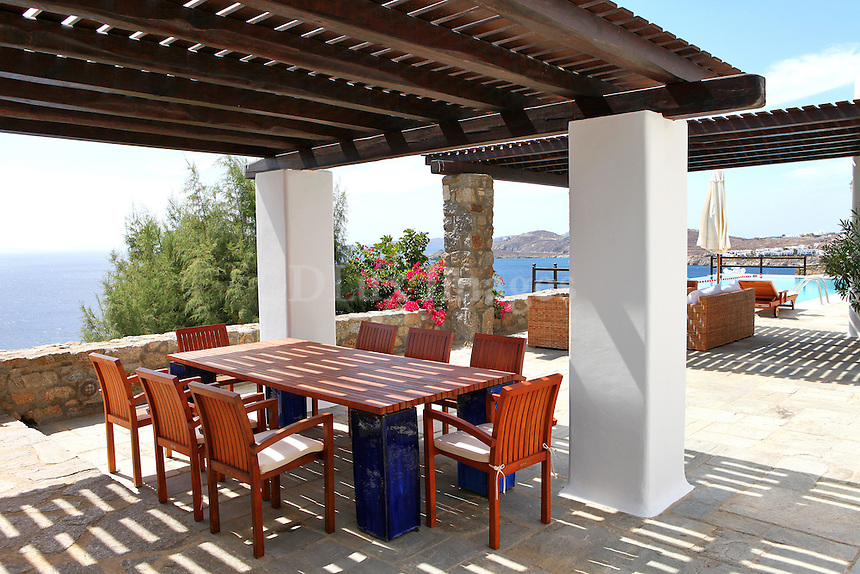 wooden outdoor table set