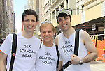 Empire The Series cast: Nick Lewis, Toby Levin, Ryan Clardy - Empire The Series, the Internet's Hottest Soap Opera Returns This Summer 2012 for its 4th season - Sex.Scandal.Soap.  march in the NYC Gay Pride Parade 2012 on June 24, 2012 marches from Fifth Avenue and 38 to the Village, New York City, New York. Ceck them out at Empiretheseries.com (Photo by Sue Coflin/Max Photos)