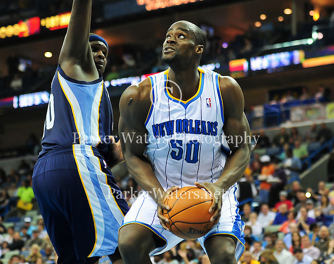 The New Orleans Hornets fall to the Memphis Grizzlies 93-81 at the New Orleans Arena. <br /> <br /> Images within this gallery are not available for purchase and appear solely as a representation of my photography.