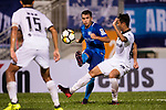 Lam Zhi Gin of SC Kitchee (C) in action during the week two Premier League match between Kitchee and Dreams FC at on September 10, 2017 in Hong Kong, China. Photo by Marcio Rodrigo Machado / Power Sport Images