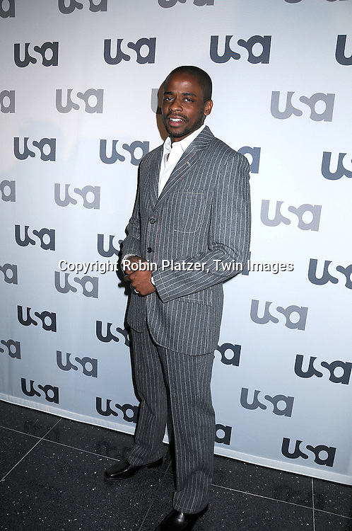 """Dule Hill of """" Psych"""".posing for photographers at The USA Network Upfront.on March 26, 2008 at The Modern. ..Robin Platzer, Twin Images"""
