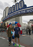 Jr 1 Mile winner Rhys Ferrito, center, with mom Megan Schuster and dad Roberto Ferrito during the 6th Annual Reno 5000 Downtown River Run on Saturday, April 6, 2019.