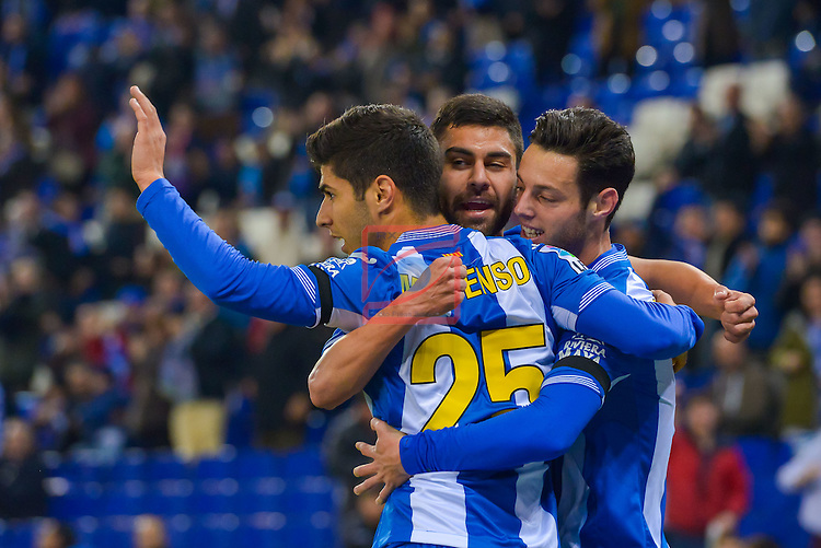 Copa del Rey 2015/2016. 1/16 Final - Vuelta.<br /> RCDE Espanyol vs Levante UD: 2-1.
