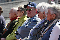 Paul Hartley, Art Oates and his wife Shirley Oates all attended either elementary school or high school with Bennie Eden sit at a Memorial service held for the long time coach at the Point Loma High School Football stadium that was recently renamed in his honor, Saturday February 23 2008.