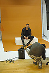 Lookbook being photographed for the Murray West Fall Winter 2016 capsule collection fashion presentation by Jerrell West, in Contra Studios at 122 West 26 Street in New York City, on May 19, 2016.