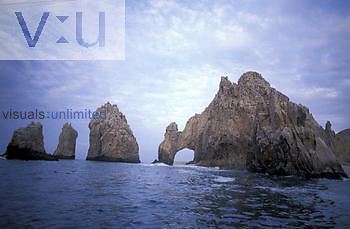 Granite rock outcrop, sea arch, Cabo San Lucas, Baja, California