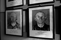 Auschwitz / Poland 2011.Auschwitz I Nazi extermination camp..Photographs of concentration camp prisoners line the wall of a hallway at Auschwitz Museum. The photographs were taken from the SS archives..Photo Livio Senigalliesi
