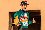 Phil Bauhaus (GER) Bahrain-Mclaren wins the overall general classification at the end of Stage 5 of the Saudi Tour 2020 running 144km from Princess Nourah University to Al Masmak, Saudi Arabia. 8th February 2020. <br /> Picture: ASO/Kåre Dehlie Thorstad   Cyclefile<br /> All photos usage must carry mandatory copyright credit (© Cyclefile   ASO/Kåre Dehlie Thorstad)
