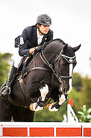 NZL-Nick Brooks (VERSACE C) FINAL-15TH: CIC2* SHOWJUMPING: 2015 NZL-Kihikihi International Horse Trial (Sunday 12 April) CREDIT: Libby Law COPYRIGHT: LIBBY LAW PHOTOGRAPHY