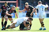 Jamie George of Saracens is tackled to ground. Aviva Premiership Semi Final, between Saracens and Wasps on May 19, 2018 at Allianz Park in London, England. Photo by: Patrick Khachfe / JMP