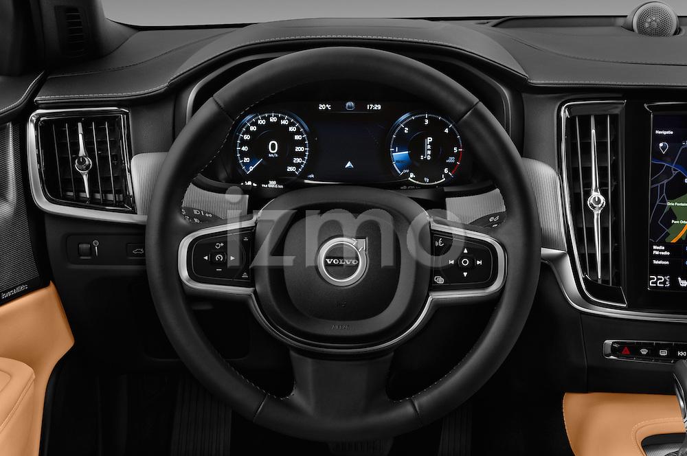 Car pictures of steering wheel view of a 2017 Volvo S90 Inscription 4 Door Sedan Steering Wheel