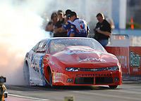 Oct 29, 2016; Las Vegas, NV, USA; NHRA pro stock driver Shane Gray during qualifying for the Toyota Nationals at The Strip at Las Vegas Motor Speedway. Mandatory Credit: Mark J. Rebilas-USA TODAY Sports