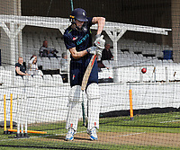 Zac Crawley net practice during the County Championship Division 2 game between Kent and Gloucestershire at the St Lawrence Ground, Canterbury, on Fri 13 Apr, 2018.
