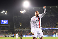 JOIE - 07 KYLIAN MBAPPE (PSG) celebrates after scoring a goal <br /> Bruges 22-10-2019 <br /> Club Brugge - Paris Saint Germain PSG <br /> Champions League 2019/2020<br /> Foto Panoramic / Insidefoto <br /> Italy Only