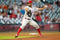 Philadelphia Phillies pitcher Antonio Bastardo #37 delivers during the Major League baseball game against the Houston Astros on September 16th, 2012 at Minute Maid Park in Houston, Texas. The Astros defeated the Phillies 7-6. (Andrew Woolley/Four Seam Images)..