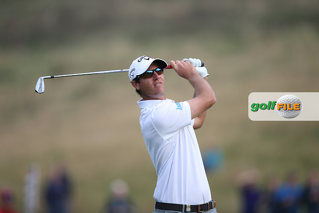Nicolas Colsaerts (BEL) playing his best golf all season goes  level during Round Three of the ISPS Handa Wales Open 2014 from the Celtic Manor Resort, Newport, South Wales. Picture:  David Lloyd / www.golffile.ie