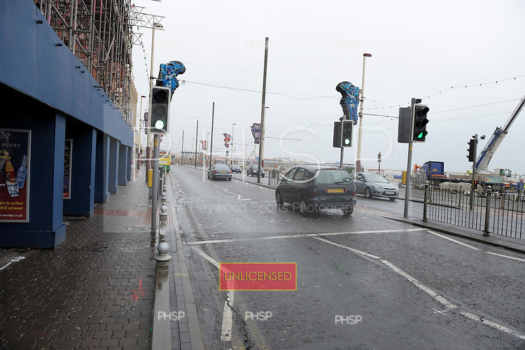 Blackpool Promenade prior to  work commencing on the tramway and road upgrades, adjacent to Blackpool Tower...© Phill Heywood.