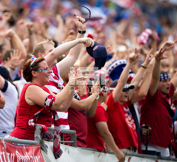 US Fans.  The United States defeated El Salvador, 5-1, during the quarterfinals of the CONCACAF Gold Cup at M&T Bank Stadium in Baltimore, MD.
