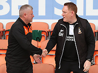 Blackpool Terry McPhillips Assistant Manager and Bradford City Head Coach David Hopkin<br /> <br /> Photographer Rachel Holborn/CameraSport<br /> <br /> The EFL Sky Bet League One - Blackpool v Bradford City - Saturday September 8th 2018 - Bloomfield Road - Blackpool<br /> <br /> World Copyright &copy; 2018 CameraSport. All rights reserved. 43 Linden Ave. Countesthorpe. Leicester. England. LE8 5PG - Tel: +44 (0) 116 277 4147 - admin@camerasport.com - www.camerasport.com