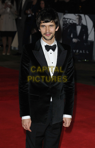 Ben Whishaw.'Skyfall' Royal World Film Premiere, Royal Albert Hall, Kensington Gore, London, England..23rd October 2012.half length black tuxedo bow tie white shirt stubble facial hair .CAP/CAN.©Can Nguyen/Capital Pictures.