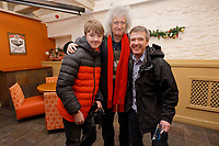Pictured: Anthony O'Connell (R) and Brian May. Thursday 26 December 2019<br /> Re: Guitarist Brian May of Queen has joined the Boxing Day Hunt in Wind Street, Swansea, Wales, UK.