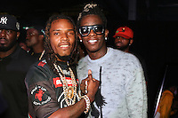NEW YORK, NY - SEPTEMBER 10, 2016 Fetty Wap & Young Thug attend the Alexander Wang Fashion Show after party September 10, 2016 at Pier 94 in New York City. Photo Credit: Walik Goshorn / Mediapunch