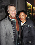 "One Life To Live's Renee Elise Goldsberry poses with Tate Donovan, who both star in ""Good People"" on February 13, 2011 at Manhattan Theatre Club at the Samuel J. Friedman Theatre, New York City, New York. (Photo by Sue Coflin/Max Photos)"
