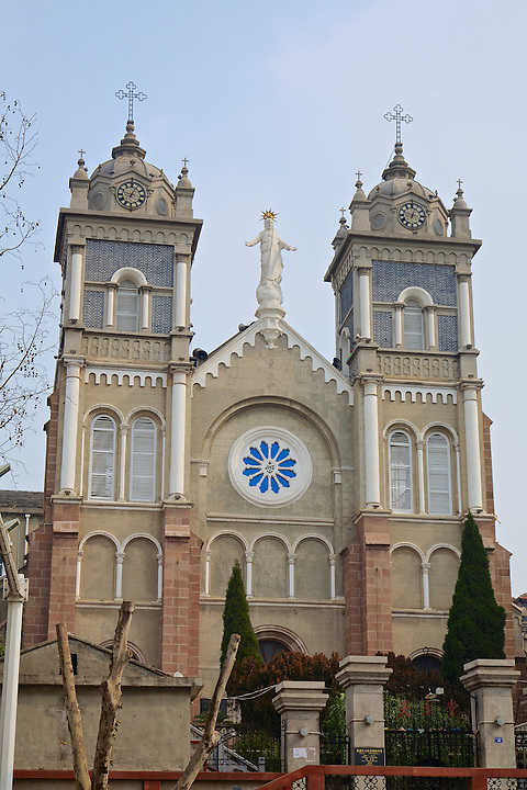The Roman Catholic Cathedral In Wuhu. The Original Church Was Completed In Early 1891 But Destroyed By A Mob In May That Year. Rebuilding Started Almost Immediately But Some Parts, Including The Two Towers, Were Not Finished Until 1931.