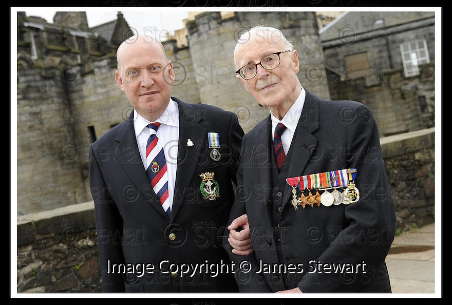 02/06/2008   Copyright Pic: James Stewart.File Name : sct_jspa03_veterans.FORMER ROYAL NAVY OFFICER, IAN MCROBBIE AND ROYAL ENGINEER, LIEUTENANT COLONEL FRANK SAUNDERS, 101, AT  THE VETERANS DAY EVENT LAUNCH AT STIRLING CASTLE.....James Stewart Photo Agency 19 Carronlea Drive, Falkirk. FK2 8DN      Vat Reg No. 607 6932 25.Studio      : +44 (0)1324 611191 .Mobile      : +44 (0)7721 416997.E-mail  :  jim@jspa.co.uk.If you require further information then contact Jim Stewart on any of the numbers above........