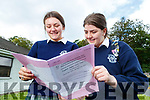 Ciara Finn (Fenit) and Blathnaid Cotter (Tralee), Presentation Secondary School students pictured after completing the Leaving Certificate English Paper 1 on Wednesday morning last.