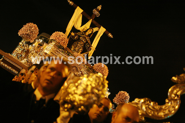 **ALL ROUND PICTURES FROM SOLARPIX.COM**                                             **WORLDWIDE SYNDICATION RIGHTS EXCEPT SPAIN & SOUTH AMERICA - NO SYNDICATION IN SPAIN OR SOUTH AMERICA**                                                                                  Semana Santa processions in Malaga today.                                                                                                                                                                 JOB REF:    13185    MPA       DATE:   23.04.11                                                         **MUST CREDIT SOLARPIX.COM OR DOUBLE FEE WILL BE CHARGED**                                                                      **MUST AGREE FEE BEFORE ONLINE USAGE**                               **CALL US ON: +34 952 811 768 or LOW RATE FROM UK 0844 617 7637**