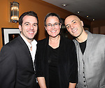Scott Evans, Wendy MacDonald & Scott C. Embler.pictured at the Opening Night After Party for '7th Monarch' at Angus McIndoe Restaurant  in New York City on June 24, 2012.