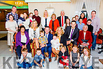 John Paul & Rebecca O'Connor seated front centre from Cahersiveen with Fionn Joseph who was christened in the O'Connell Memorial Church in Cahersiveen on Saturday pictured here in the Ring of Kerry Hotel with family and friends.