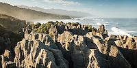 Limestone formation in Punakaiki, Paparoa National Park, West Coast,  Buller Region, New Zealand, NZ
