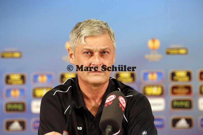 Trainer Armin Veh (Eintracht) - Eintracht Europa League PK