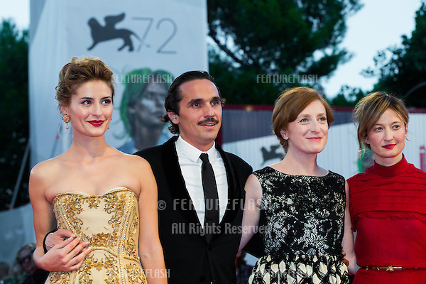 Lidiya Liberman, Pier Giorgio Bellocchio, Federica Fracassi &amp; Alba Rohrwacher,  at the premiere of Blood Of My Blood at the 2015 Venice Film Festival.<br /> September 8, 2015  Venice, Italy<br /> Picture: Kristina Afanasyeva / Featureflash