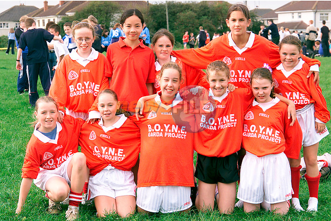 Back Row L/R, Fiona Fisher, Ninh Tran, Nicole Hill, Samantha Walker and Rebecca Hill. Front Row L/R, Danielle Leddy, Stacey Hill, Aisling Kerr, Elaine Thornton and Danielle Reilly. Pupils from St. Paul's National School who competed in the Drogheda and District Schools Cross Country Championship at St. Josephs CBS field..Picture: Paul Mohan/Newsfile
