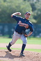 Williams Perez of the Gulf Coast League Braves during the game against the Gulf Coast League Phillies July 10 2010 at the Disney Wide World of Sports in Orlando, Florida.  Photo By Scott Jontes/Four Seam Images