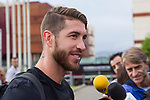 Spainsh Sergio Ramos arriving at the concentration of the spanish national football team in the city of football of Las Rozas in Madrid, Spain. August 28, 2017. (ALTERPHOTOS/Rodrigo Jimenez)