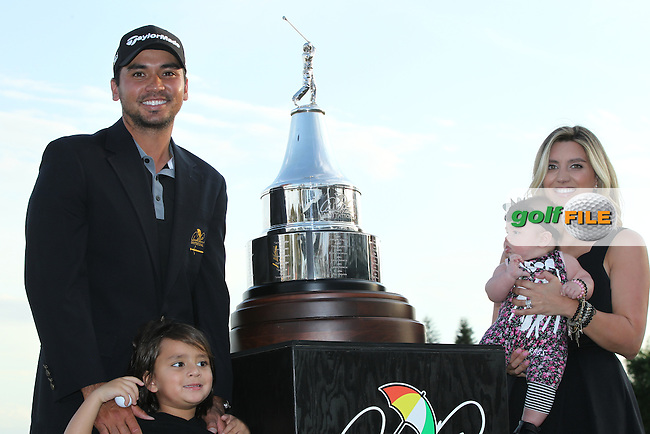 Jason Day, son Dash, Wife, Ellie Day with baby Lucy (AUS)  during The Final Round of the Arnold Palmer Invitational, Bay Hill Club and Lodge, Orlando,  Florida, USA. 20/03/2016.<br /> Picture: Golffile | Mark Davison<br /> <br /> <br /> All photo usage must carry mandatory copyright credit (&copy; Golffile | Mark Davison)