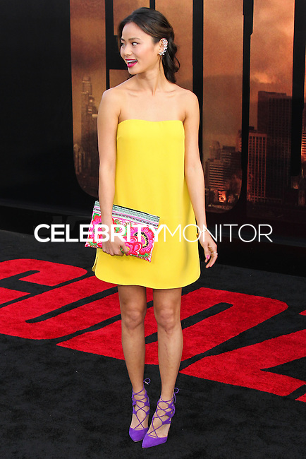 """HOLLYWOOD, LOS ANGELES, CA, USA - MAY 08: Jamie Chung at the Los Angeles Premiere Of Warner Bros. Pictures And Legendary Pictures' """"Godzilla"""" held at Dolby Theatre on May 8, 2014 in Hollywood, Los Angeles, California, United States. (Photo by Xavier Collin/Celebrity Monitor)"""