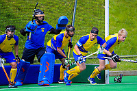 Action from the Men's National Hockey League match between Midlands and Southern at National Hockey Stadium in Wellington, New Zealand on Saturday, 22 September 2018. Photo: Dave Lintott / lintottphoto.co.nz